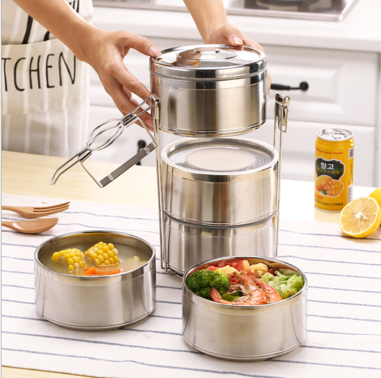 China Stainless Steel Multi Layer Food Storage Containers